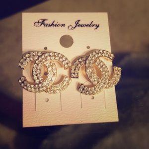 Cz sparkly Chanel diamond style